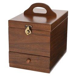 画像1: 日本製 木製メイクボックス コスメボックス 縦